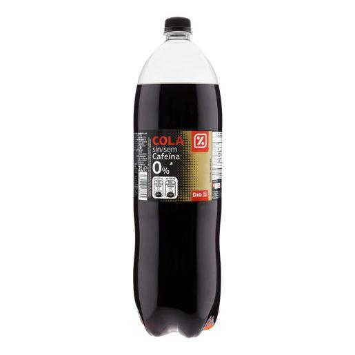 DIA refresco de cola sin cafeína 0% azúcares botella 2 lt