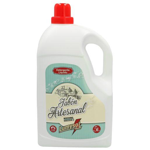 LUMYSOL detergente máquina líquido jabón artesanal botella 5 lt