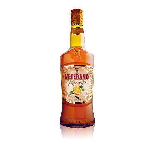 VETERANO brandy con naranja botella 70 cl