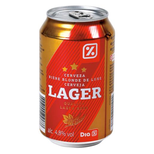 DIA cerveza lager lata 33 cl