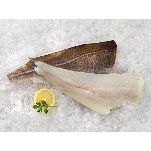 Filete de bacalao con piel, limpio y sin espinas unidad (peso aprox. 500 gr)