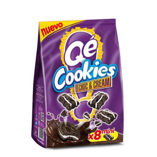 QÉ cookies sabor choc&cream paquete 60 gr
