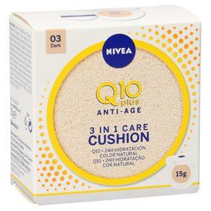 NIVEA Q10 plus anti-age crema con color 3 en 1 tono oscuro 15 gr