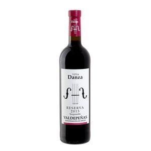 VIÑA DANZA vino tinto reserva DO Valdepeñas botella 75 cl