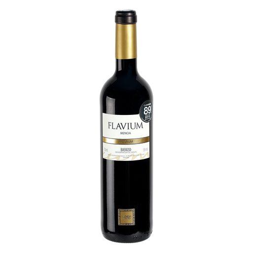 FLAVIUM vino tinto premium DO Bierzo botella 75 cl