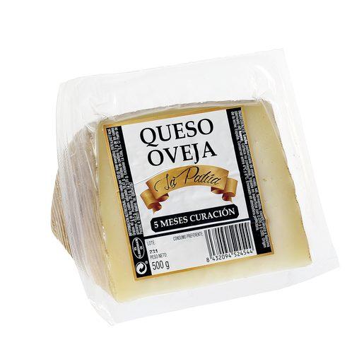 LA PATUA queso de oveja curado cuña 500 gr