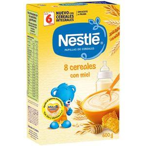 NESTLE papilla 8 cereales con miel caja 600 gr