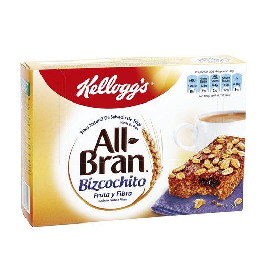 KELLOGGS barritas de bizcochitos de cereales con fruta y fibra estuche 240 g