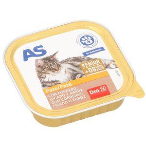AS alimento para gatos con cordero e hígado tarro 100 gr