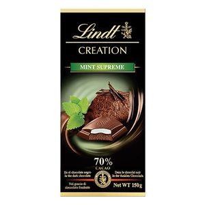 LINDT Creation chocolate negro 70% con menta tableta 150 gr