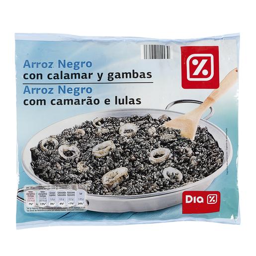DIA arroz negro con calamar y gambas bolsa 600 gr