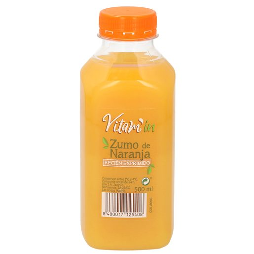 Zumo de naranja recién exprimido botella 500 ml