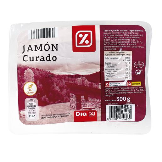 DIA taco de jamón curado sobre 300 gr
