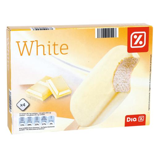 DIA helado bombón chocolate blanco caja 4 uds 316 gr