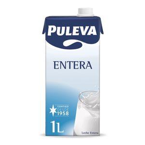 PULEVA leche entera envase 1 lt
