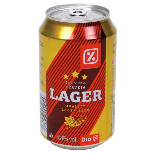 DIA cerveza rubia lata 33 cl