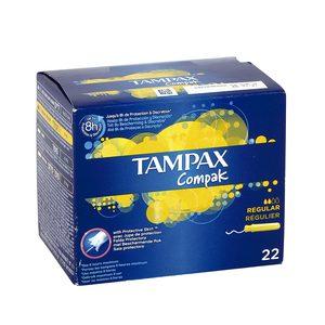 TAMPAX Compak tampón regular caja 22 uds