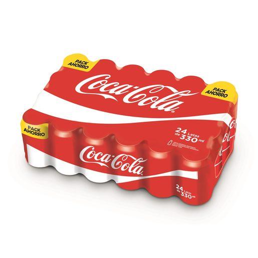 COCA COLA clásica pack 24 latas 33 cl