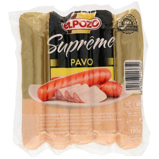 ELPOZO Supreme salchichas de pavo envase 180 gr