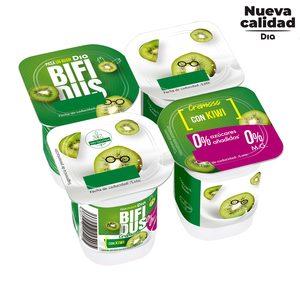 DIA BÍFIDUS cremoso con kiwi 0% pack 4 unidades 125 gr