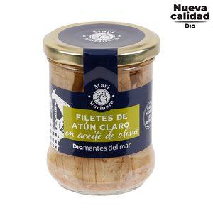 DIA MARI MARINERA filetes de atún claro en aceite de oliva frasco 140 gr