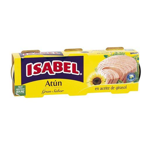ISABEL atun en aceite vegetal pack de 3 latas x 52 grs