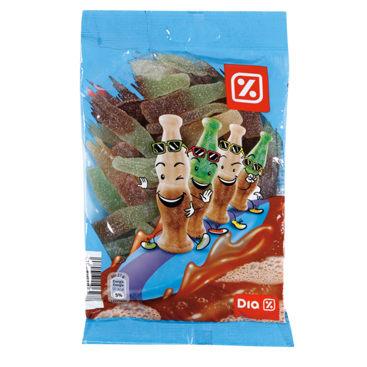 DIA golosinas cola azucarada bolsa 250 gr