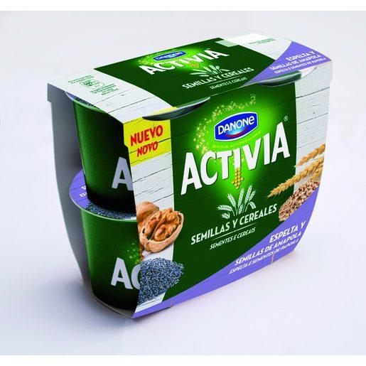 DANONE ACTIVIA yogur con espelta y semillas de amapola pack 4 unidades 120 gr