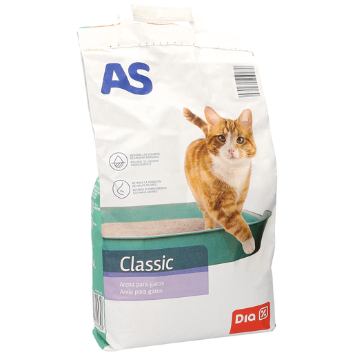 AS arena absorbente para gatos bolsa 5 kg