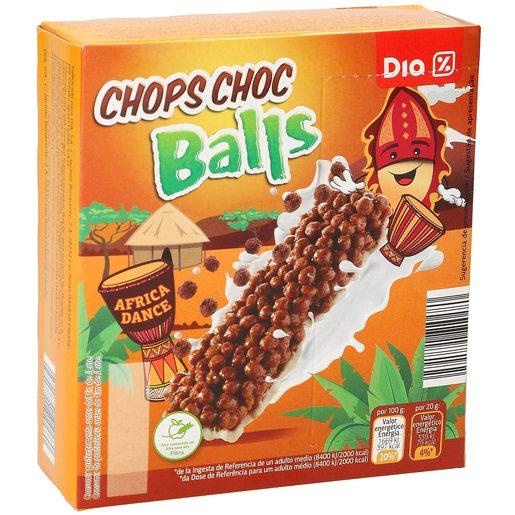 DIA barritas de cereales chops choc balls caja 6 uds 120 gr