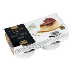 DIA DELICIOUS flan de queso pack 4 unidades 100 gr