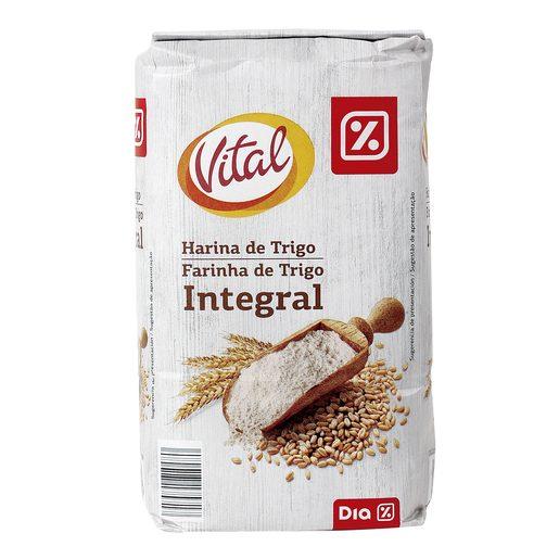 DIA VITAL harina de trigo integral paquete 1 Kg