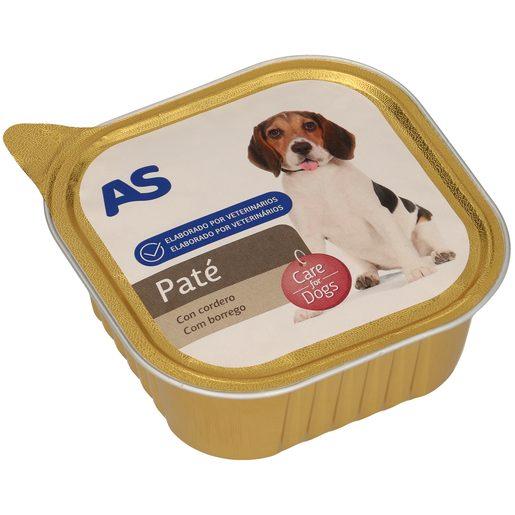 AS paté para perros rico en cordero tarrina 300 gr