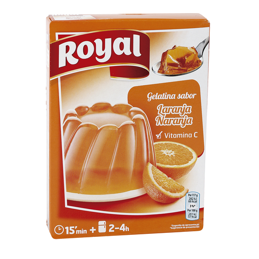 ROYAL gelatina sabor naranja caja 170 gr