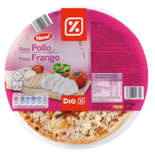 DIA pizza de pollo envase 410 gr
