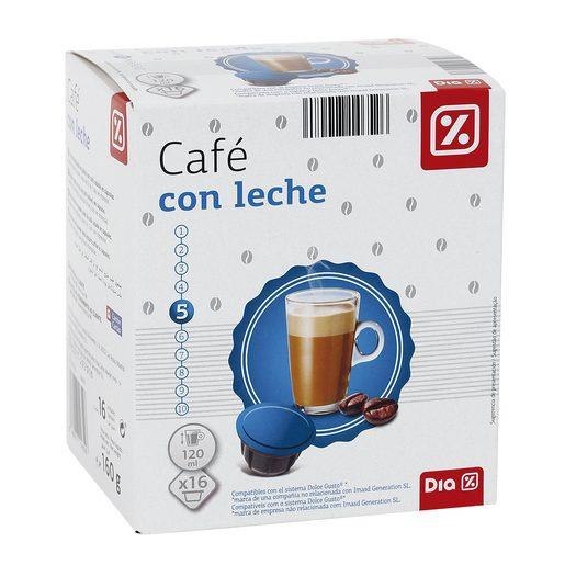 DIA café con leche 16 cápsulas caja 160 gr