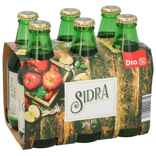 DIA sidra pack 6 botellas 25 cl