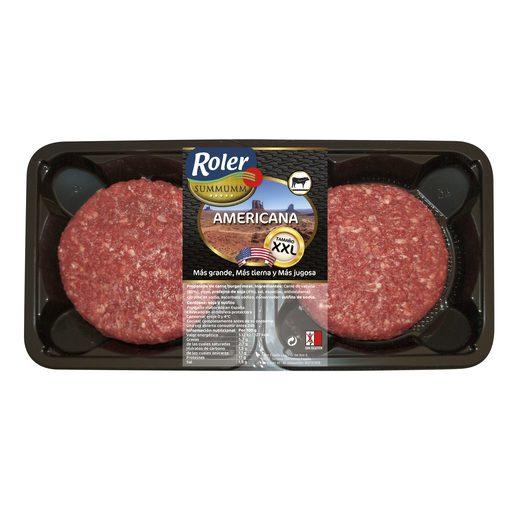 ROLER hamburguesa americana de vacuno XXL bandeja 400 gr