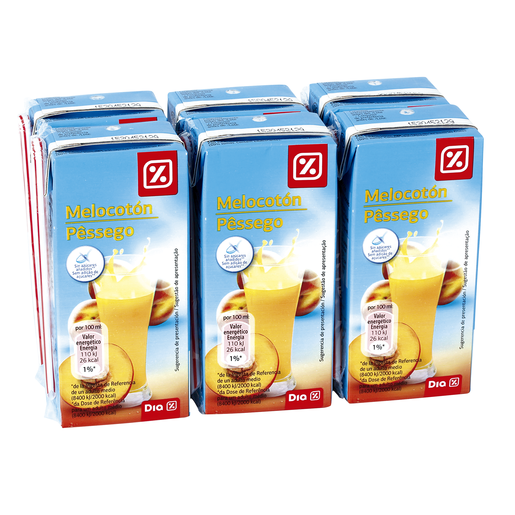 DIA néctar light melocotón pack 6 unidades 200 ml