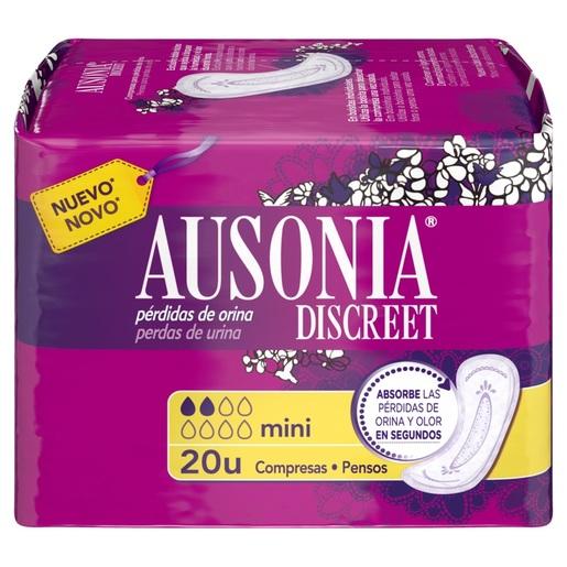 AUSONIA Discreet compresas de incontinencia mini paquete 20 uds
