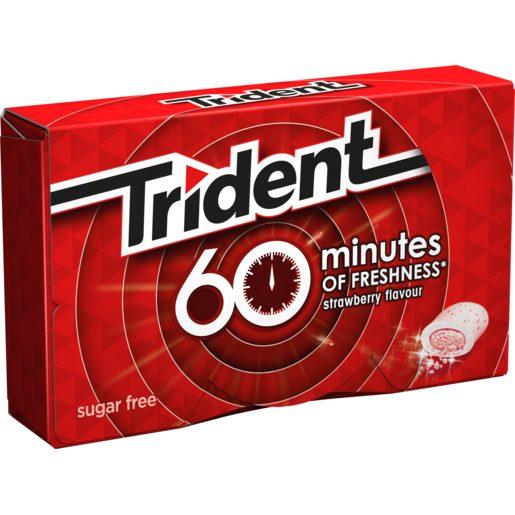 TRIDENT chicle 60 minutos sabor fresa paquete 20 gr