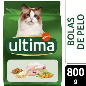 ULTIMA alimento para gatos control bolas de pelo con pavo bolsa 800 gr