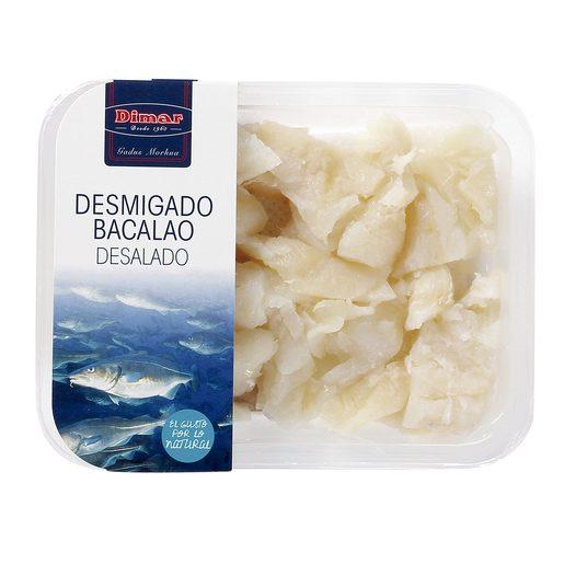 DIMAR bacalao desmigado desalado bandeja 250 gr