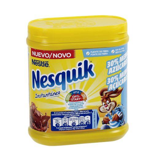 NESTLE NESQUIK cacao instantáneo 30% menos azúcar lata 450 gr