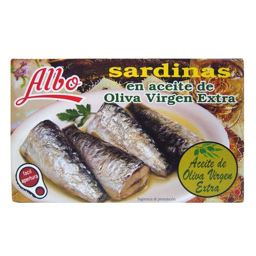 ALBO sardinas en aceite de oliva virgen extra  lata 85 gr