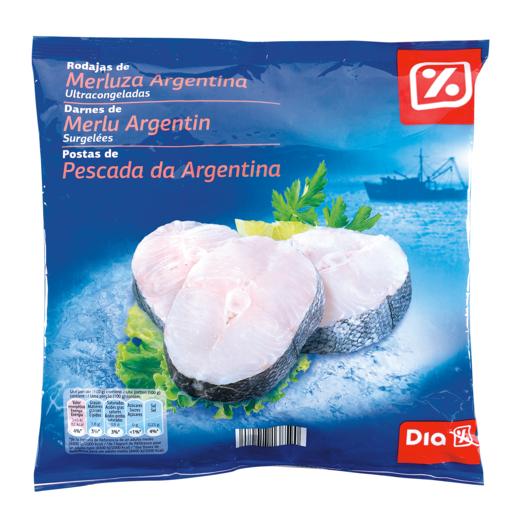 DIA rodajas de merluza argentina con piel bolsa 600 gr