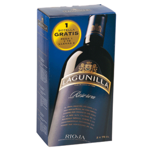 LAGUNILLA vino tinto reserva DO Rioja botella 2 x 75 ml