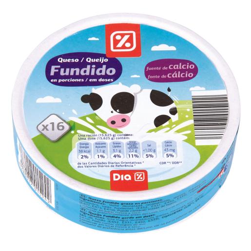 DIA queso fundido natural 16 porciones caja 250 gr