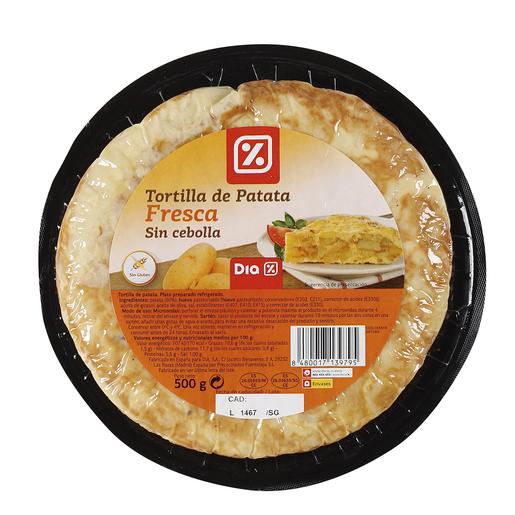 DIA tortilla de patatas sin cebolla envase 500 gr