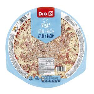 DIA pizza atún y bacon envase 400 gr